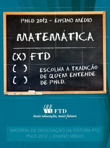 MATEMATICA - Editora FTD
