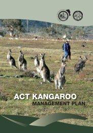 Kangaroo Managment Plan - Territory and Municipal Services - ACT ...
