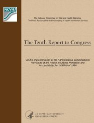 The Tenth Report to Congress - National Committee on Vital and ...