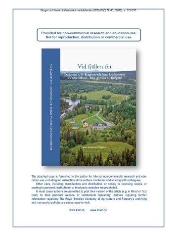 Fisket i västra Jämtland – en viktig och omstridd resurs
