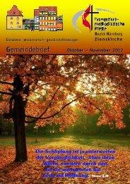 Gemeindebrief Okt-Nov 2012 - Zionsgemeinde