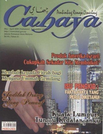 | MAC/APRIL 2009 ~ CAHAYA | - Jabatan Kemajuan Islam Malaysia