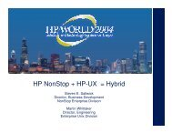 Joint Implementation Success with HP-UX and NonStop ... - OpenMPE