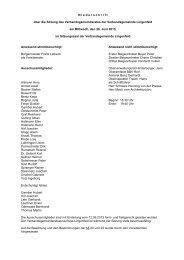 N iederschrift über die Sitzung des Verbandsgemeinderates der ...