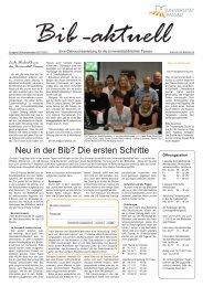 Bib-aktuell, Ausgabe 3 - Universitätsbibliothek Passau - Universität ...