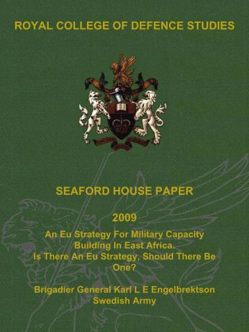 An EU strategy for military capacity building in - Defence Academy of ...