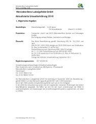 Werk Ludwigsfelde, Aktualisierte Umwelterklärung 2010 - Daimler