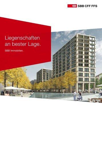 SBB Liegenschaften Imagebroschüre