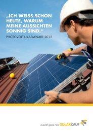 ich weiss schon heute, warum meine aussichten sonnig ... - Solarkauf