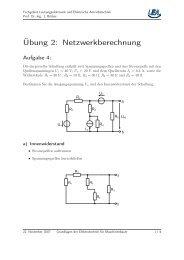 Übung 2 - Fachgebiet Leistungselektronik und Elektrische ...