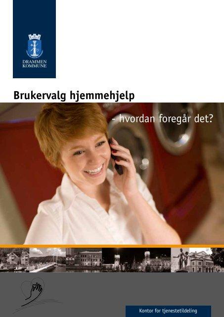 Informasjonsbrosjyre om brukervalg - Drammen kommune