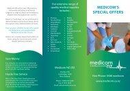MEDICOM'S SPECIAL OFFERS