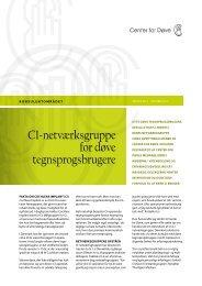 CI-netværksgruppe for døve tegnsprogsbrugere - Center for døve
