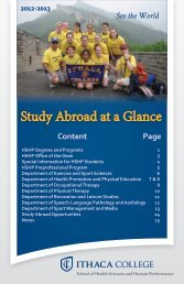 Study Abroad at a Glance - Ithaca College