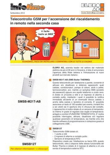 Telecontrollo GSM Per Lu0027accensione Del Riscaldamento In ...   Elbro AG