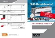 Herbstoffensive FAAC 2010 - FAAC GmbH