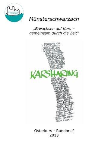 Rundbrief Ostern 2013 - der Abtei Münsterschwarzach
