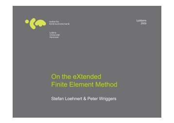 On the eXtended Finite Element Method