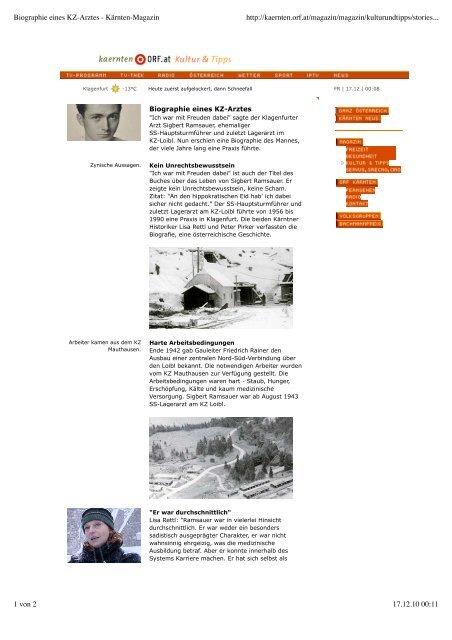 pdf | orf kärnten - Peter Pirker \ Historiker \ Politikwissenschafter
