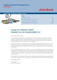 Angst vor Inflation? Nein! Respekt vor der Realzinsfalle? Ja ...