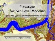 Elevations for Sea Level Modeling - the Elkhorn Slough Coastal ...