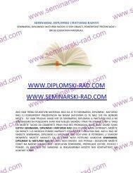Seminarski, diplomski, magistarski i maturski radovi
