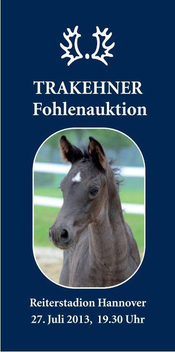 Auktionsfohlen Katalog (pdf) - Trakehner Verband