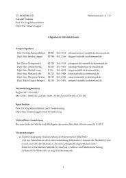 Allgemeine Informationen - Fakultät Statistik - TU Dortmund