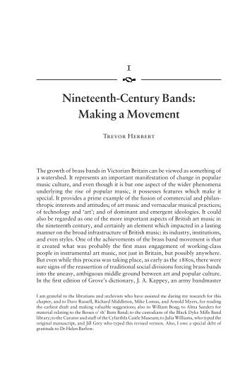 1 Nineteenth-Century Bands: Making a Movement