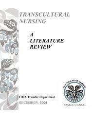 Transcultural Nursing ITHA Literature Review, December 2004 ...