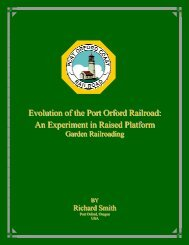 Evolution of the Port Orford Railroad: - mylargescale.com