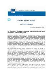 Estrasburgo, 5 de febrero de 2013 - Gobierno de Canarias
