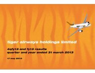 FY12-13 Q4 Presentation Slides - Tiger Airways