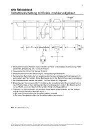 sNs Relaisblock Selbstblockschaltung mit Relais, modular ... - Felix