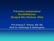 Prävention postoperativer Wundinfektionen - Infectionprevention.ch