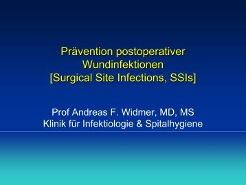 Prävention postoperativer Wundinfektionen - Infectionprevention.ch