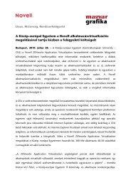 A Közép-európai Egyetem a Novell ... - mgonline