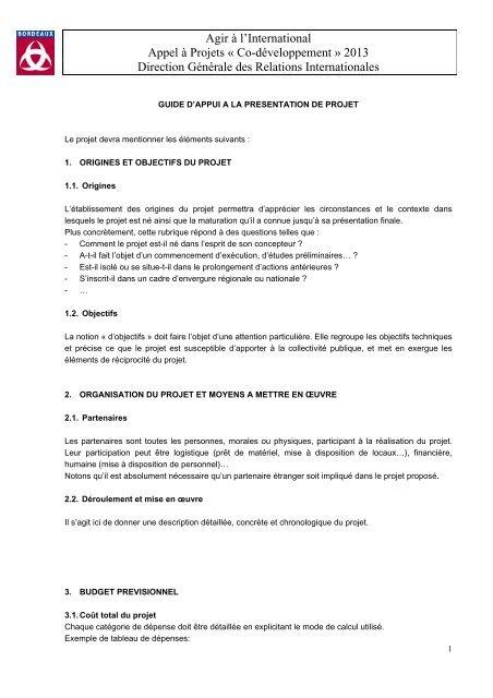 Presentation De L Appel A Projets Bordeaux