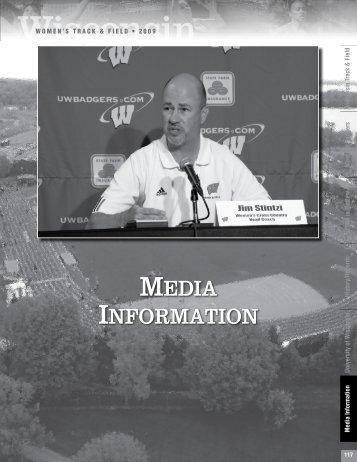 MEDIA INFORMATION - UWBadgers.com