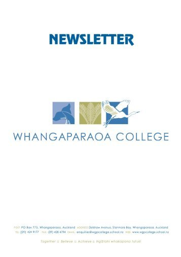 Performing Arts - Drama and Music - Whangaparaoa College