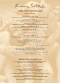 À La Carte - Kama Sutra Restaurant Group - Page 4