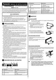 FX-100 Manual de Instrucciones - Panasonic Electric Works Italia SRL