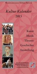 Kulturkalender 2013 (ca. 700kB) - Schloss Bevern