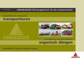 Prospekt Annaburger Fahrzeugtechnik - Kohli AG
