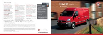 Movano 2008 Edition 1 - Van Leasing and Car Leasing