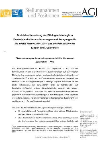 Drei Jahre Umsetzung der EU-Jugendstrategie in Deutschland ...