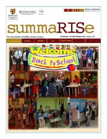 SummaRISe 35 - Raffles International School