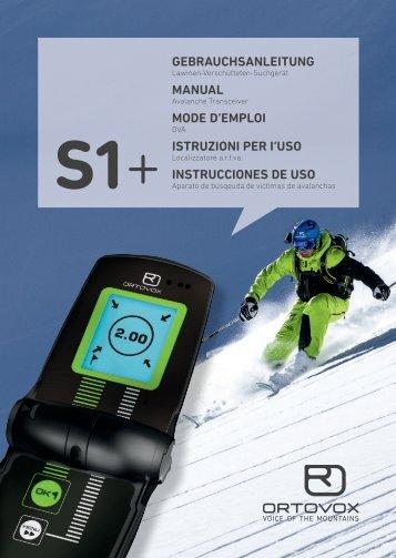 S1+ MustErtExt geBrauchSanleitung manual mode d ... - Ortovox.com