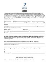 Participant Information The thorough and accurate completion of this ...