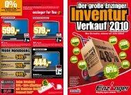 10 Monate Laufzeit* 00% Zinsen - Elektro Enzinger Gmbh